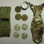 Sterling flatware, old coins, and silver ring – Metal detecting finds