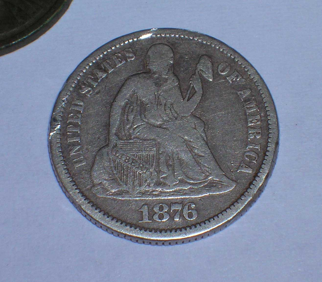 First Seated Dime Just 2 Inches Under The Surface