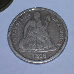First seated dime just 2 inches under the surface – metal detecting finds