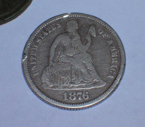 first-seated-dime-metal-detecting-find