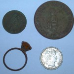 Pristine barber dime and other neat finds – metal detecting finds